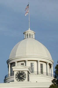 dome and flagstaff of Alabama capitol