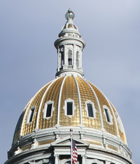 Capitol dome, gold leaf