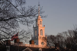 The cupola tower in early evening light