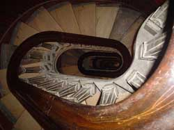 Stairs to dome balcony