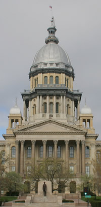 Illinois state capitol entrance
