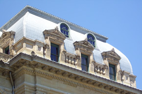 North wing mansard roof