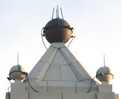 spheres on cupola roof
