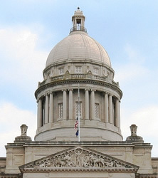 Kentucky capitol dome and pediment
