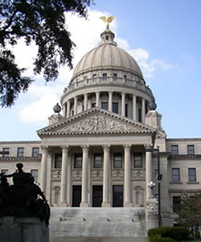 Mississippi capitol entrance