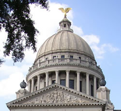 What's on top of the Mississippi capitol