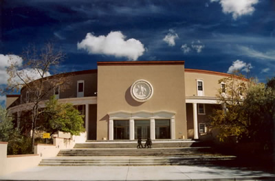 New Mexico state capitol front view