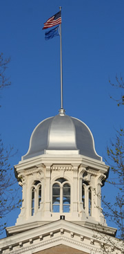 cupola and flagstaff of Nevada capitol