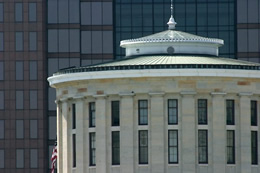 Statehouse cupola and conical roof