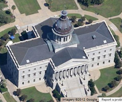 Aerial view of capitol