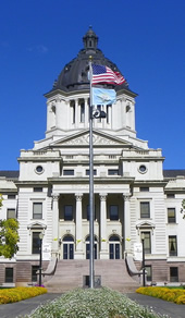 South Dakota capitol front entrance