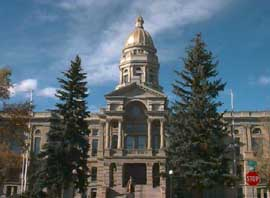 Wyoming capitol front